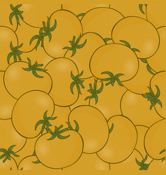 seamless pattern background with yellow tomatoes vector image