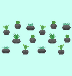 seamless pattern with cactuses vector image