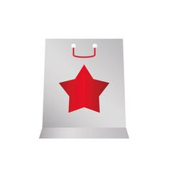 Shopping bag gift vector
