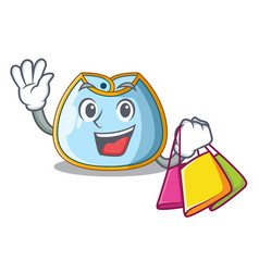 Shopping cartoon baby bib on a clothesline vector
