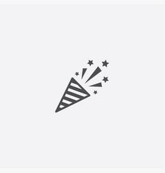 Simple firecracker icon vector
