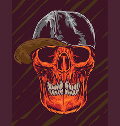 skull caps vector image