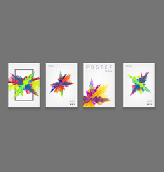 stock set fluid shapes poster vector image