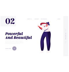 Stylish female accessory website landing page vector
