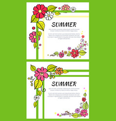 summer pictures consists of headline text samples vector image
