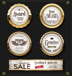 Super sale retro vintage labels collection 2 vector