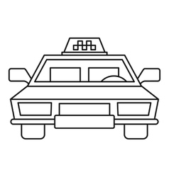 Taxi car icon outline style vector