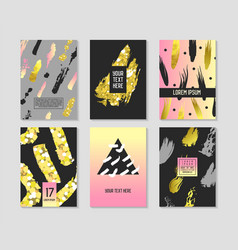 trendy abstract posters set with place for text vector image