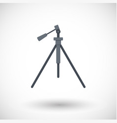 Tripod flat icon vector