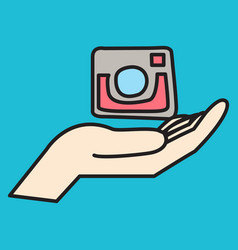 Unusual look web icon of modern lineart camera vector
