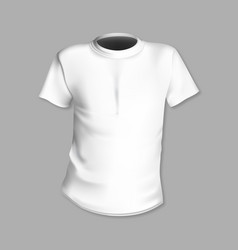 white t-shirt template in front of a gray vector image