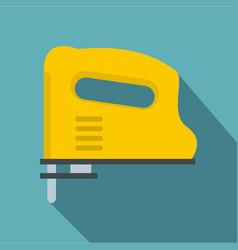 Yellow pneumatic gun icon flat style vector