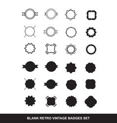 Blank contour badge emblem logo icon set vector image