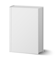 blank vertical book with hard cover template vector image