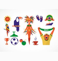 Brazil icons and vector image