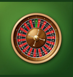 casino roulette wheel vector image vector image