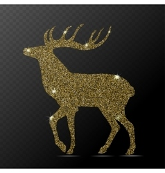 Isolated gold deer vector image vector image