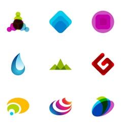 logo design elements set 03 vector image vector image