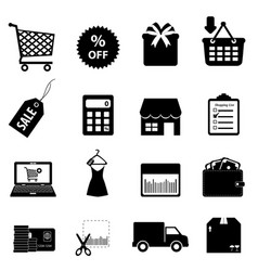 Retail icons vector image