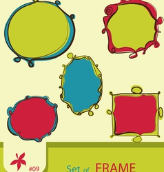set of retro style frame vector image