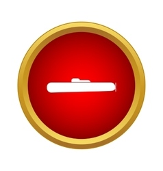 Submarine icon in simple style vector image