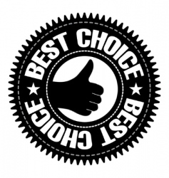 best choice sign with hand vector image vector image