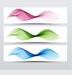 bright speed web swoosh futuristic wave line set vector image