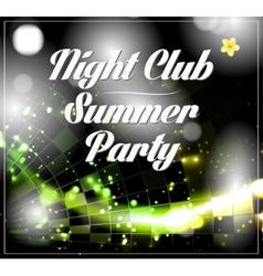 disco party flyer vector image vector image