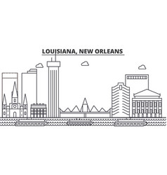 louisiana new orleans architecture line skyline vector image