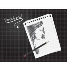 sketch pad vector image vector image