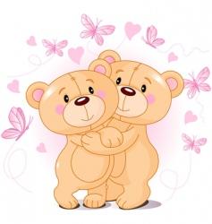 teddy bears in love vector image vector image