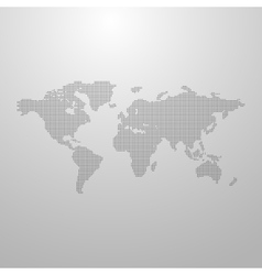 a world map vector image vector image