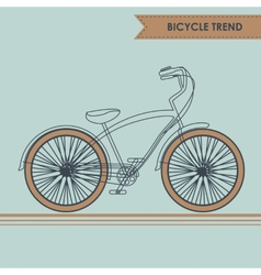 Bicycle sketch on blue vector image vector image