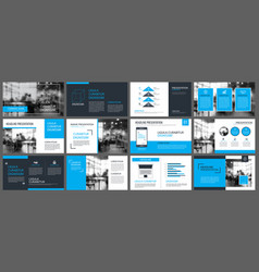 blue presentation templates and infographics vector image vector image