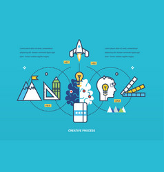 creative process of thinking ideas inspiration vector image