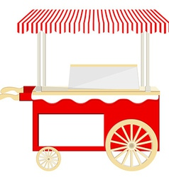 Ice cream red cart vector image