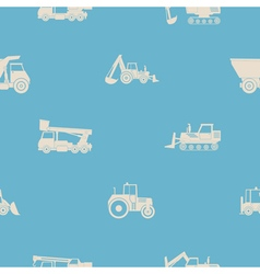 Seamless pattern construction machines vector image vector image