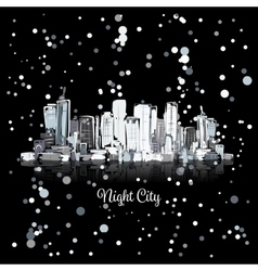 Abstract night cityscape sketch for your design vector image vector image