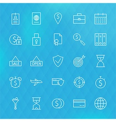 Banking Finance Business Money Line Icons Set vector image