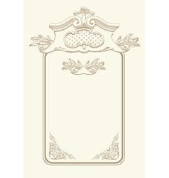 classical vintage old frame design vector image