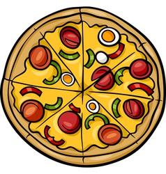 italian pizza cartoon vector image vector image
