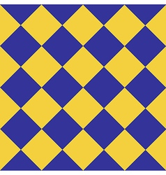 Yellow Blue Chess Board Diamond Background vector image