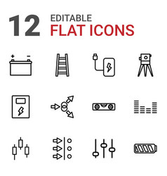 12 level icons vector