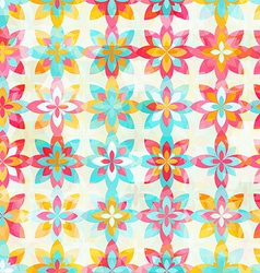 Abstract color flowers seamless pattern vector image