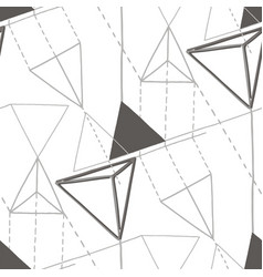 Abstract geometric pattern flat and isometric vector