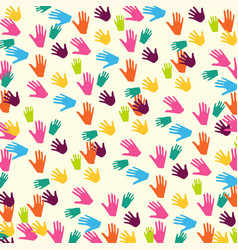Abstract hand prints background vector