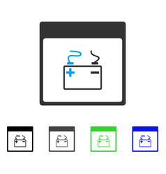 Accumulator calendar page flat icon vector
