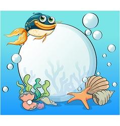 An ocean with many aquatic creatures vector