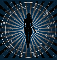 astrologic zodiac horoscope background with vector image