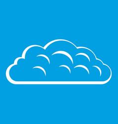 Autumn cloud icon white vector